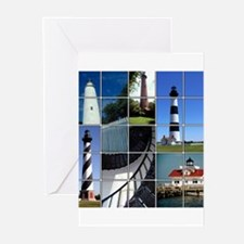 Outer Banks Lighthouses Greeting Cards (Pk of 10)
