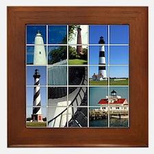Outer Banks Lighthouses Framed Tile