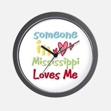 Someone in Mississippi Loves Me Wall Clock