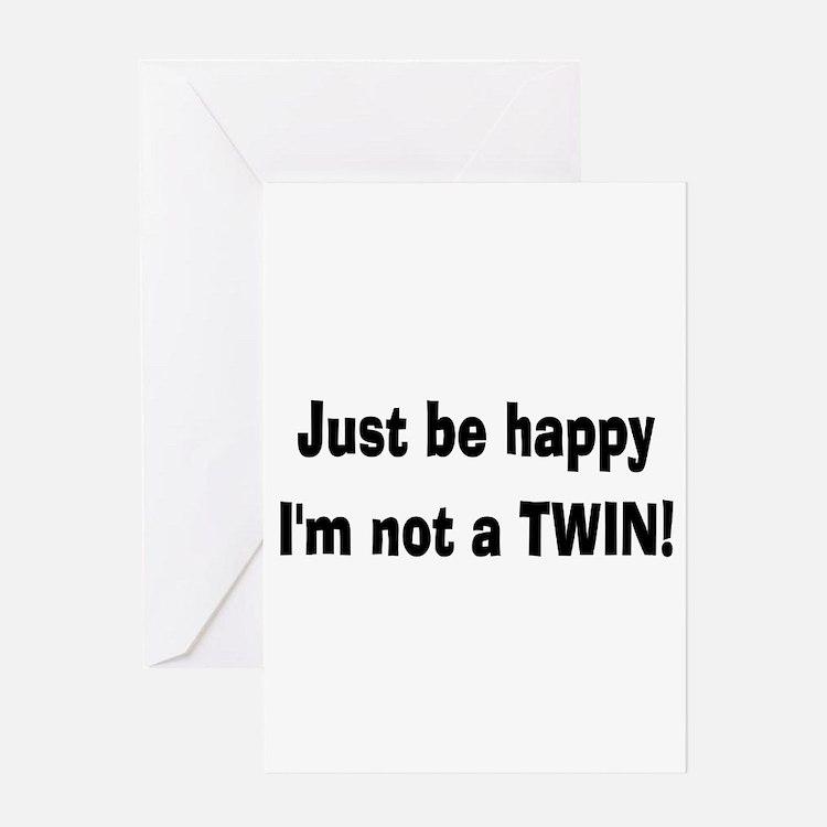 HAPPY TWIN Greeting Card