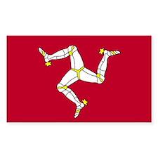 Isle of Man Rectangle Decal