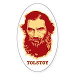 Tolstoy Oval Sticker
