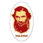 Tolstoy Oval Sticker (50 pk)