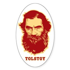 Tolstoy Oval Sticker (50 pk)