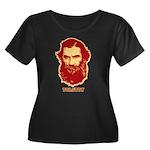 Tolstoy Women's Plus Size Scoop Neck Dark T-Shirt