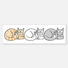 3 ASL Kitties Bumper Bumper Bumper Sticker