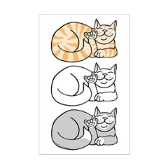 3 ASL Kitties Posters