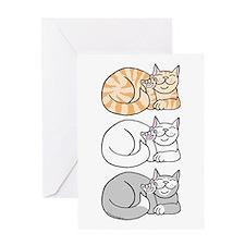 3 ASL Kitties Greeting Card