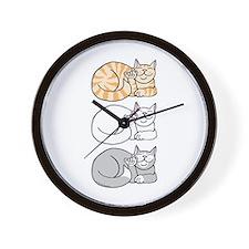 3 ASL Kitties Wall Clock