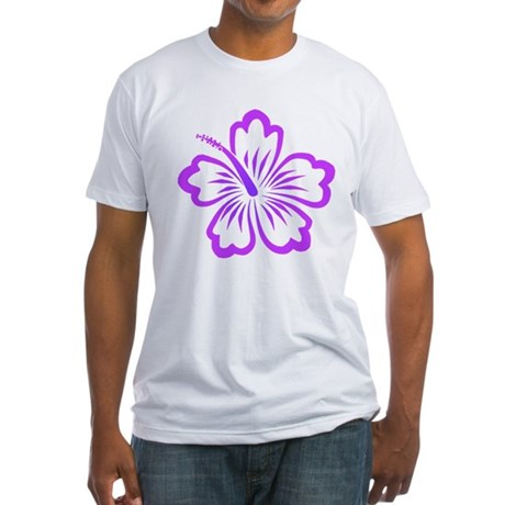 Purple Hibiscus Fitted T-Shirt