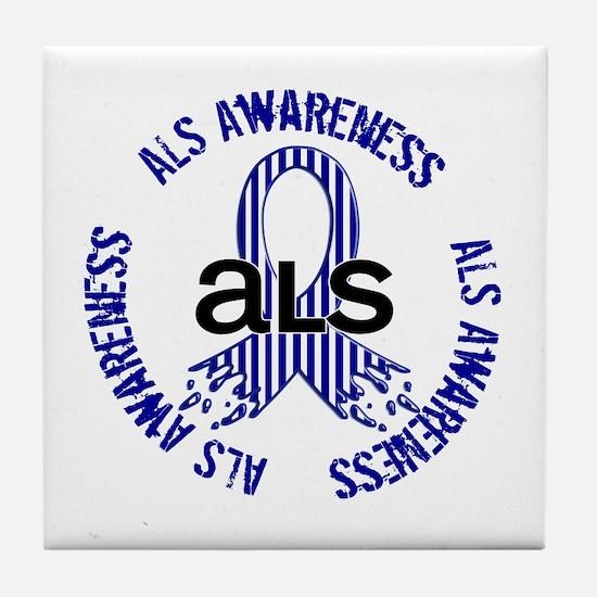 ALS Awareness Tile Coaster