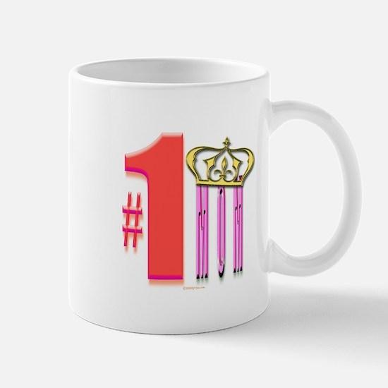 5 Star Mugs #1 Mom with Crown Mug