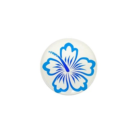 Blue Hibiscus Mini Button (10 pack)