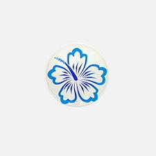 Blue Hibiscus Mini Button (10 pack)