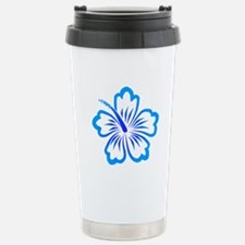Blue Hibiscus Stainless Steel Travel Mug