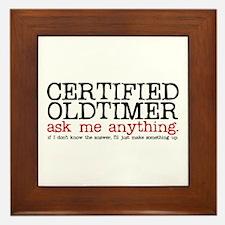 Certified Oldtimer Framed Tile