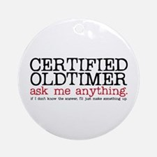 Certified Oldtimer Ornament (Round)