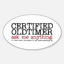 Certified Oldtimer Oval Decal