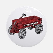 BIG RED WAGON Ornament (Round)