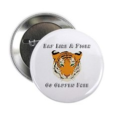 "Gluten Free Tiger 2.25"" Button"