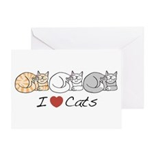 I Heart Cats Greeting Card