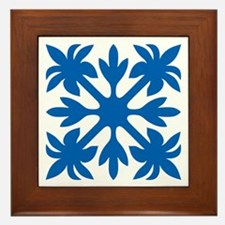 Hawaiian Quilt Framed Tile