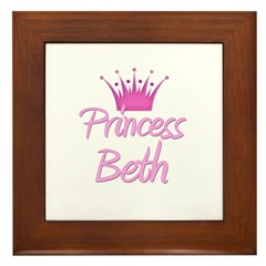 Princess Beth Framed Tile