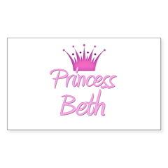 Princess Beth Rectangle Decal