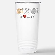 I Heart Cats Travel Mug