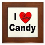 I Love Candy Framed Tile