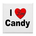 I Love Candy Tile Coaster