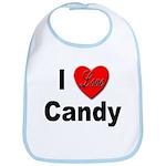 I Love Candy Bib