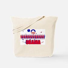 Paint Splatter Obama Tote Bag