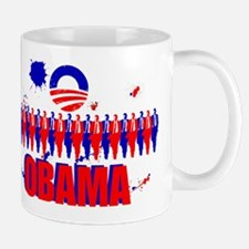 Paint Splatter Obama Mug