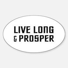 Live Long Sticker (Oval)