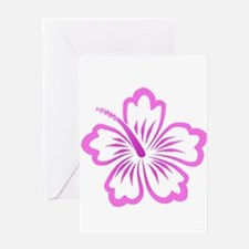 Funny Hibiscus blue Greeting Card