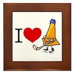 I heart Traffic Cones Framed Tile