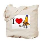 I heart Traffic Cones Tote Bag
