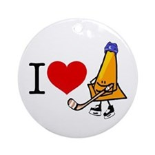 I heart Traffic Cones Ornament (Round)