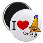 I heart Traffic Cones Magnet