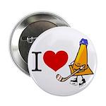 I heart Traffic Cones Button