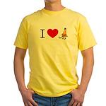 I heart Traffic Cones Yellow T-Shirt