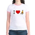 I heart Traffic Cones Jr. Ringer T-Shirt