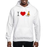 I heart Traffic Cones Hooded Sweatshirt