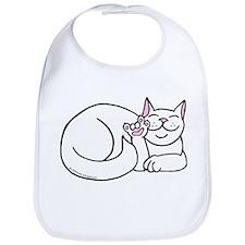 White ASL Kitty Bib