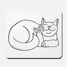 White ASL Kitty Mousepad