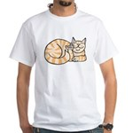OrangeTabby ASL Kitty White T-Shirt