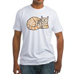 OrangeTabby ASL Kitty Fitted T-Shirt