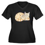 OrangeTabby ASL Kitty Women's Plus Size V-Neck Dar