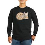 OrangeTabby ASL Kitty Long Sleeve Dark T-Shirt